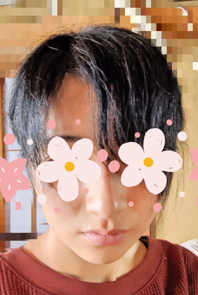 癖毛の自分がアイロンをかけた写真